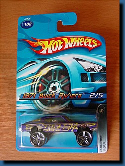 Hot Wheels 2006 / 1971 Buick Riviera Hi-Rakers 2 of 5 1:64