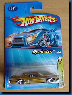 Hot Wheels 2005 Realistix 1971 Buick Riviera 1:64